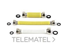 "CONEXION FLEXIBLE EXTENSIBLE HEMBRA-HEMBRA 1/2-3/4"" 300-510mm con referencia 301234 de la marca POTERMIC."