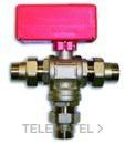 """VALVULA ESFERA MOTOR 1"""" COMPACT 3 VIAS con referencia 343026 de la marca POTERMIC."""