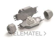 RAYTECH FRED Mini torpedo con gel IP68 80x36x23 con regleta 3x2,5mm gris (Blister 1u)