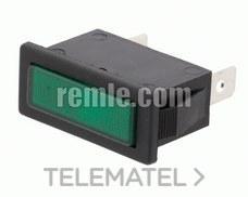 REMLE 064.02.4321 Piloto luz 14x32mm verde