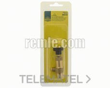 "REMLE 026.00.0201 Valvula servicio macho 1/4""saex hembra 1/4"" gas"