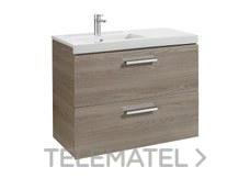 ROCA A855953806 Conjunto mueble PRISMA 2 cajones 900 izquierda brillo