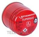 CARTUCHO GAS BUTANO C200 190ml CON VALVULA SEGURIDAD con referencia 035901-A de la marca ROTHENBERGER.