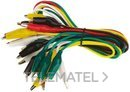 CABLE PRUEBA CON PINZA COCODRILO 500mm con referencia 161-6511 de la marca RS PRO.