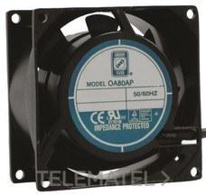 VENTILADOR AXIAL OA80AC 52,7m3/h 12W 230V AC con referencia 619-7015 de la marca RS PRO.