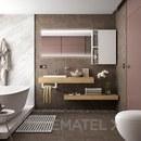 Encimera COMPAKT 46 de 1001 hasta 1200 mm, 1 lavabo de semiencastre ROBLE ÁFRICA con referencia 25793 de la marca SALGAR.