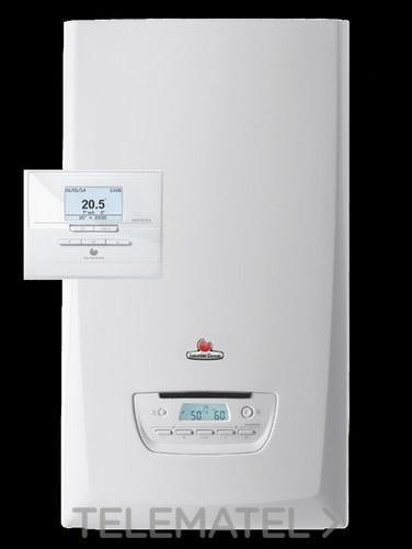Kit caldera THEMAFAST CONDENS 25 + EXACONTROL gas natural clase de eficiencia energética A con referencia 12221495 de la marca SAUNIER DUVAL.