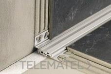 Perfil de junta DILEX-BTO-A 17,5mm aluminio 2,5m con referencia ABT175/O125 de la marca SCHLUTER.