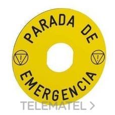 SCHNEIDER ELEC ZBY9430 ETIQ. CIRCULAR 60MM PARADA DE EMERGENCIA