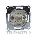 Interruptor 10A de la gama Elegance con función 1P 1 vía, en metal plástico para montaje empotrado y fijación con tornillos y garras con referencia MTN3111-0000 de la marca SCHNEIDER ELEC.