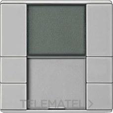 TERMOSTATO ARTEC PULSADOR PLUS 2 ELEMENTOS ACERO con referencia MTN6212-4146 de la marca SCHNEIDER ELEC.
