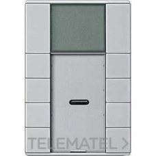 TERMOSTATO ARTEC PULSADOR PLUS 4 ELEMENTOS ALUMINIO con referencia MTN6214-4060 de la marca SCHNEIDER ELEC.