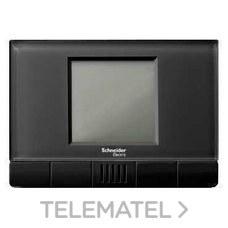 TERMOSTATO CONTROL ACCESO KNX RTC VIDRIO NEGRO con referencia MTN6903-6214 de la marca SCHNEIDER ELEC.