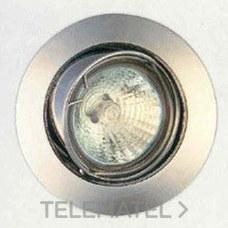 DOWNLIGHT BASCULANTE ZAMAC 12V-50W SERIE 285 NEGRO con referencia 28602 de la marca SECOM.