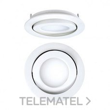 DOWNLIGHT EMPOTRABLE CIRCULAR LED 8W 3K 1-10V NIQUEL MATE con referencia 4297085583DR de la marca SECOM.