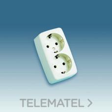 SIMON 10462-31 BASE ENCHUFE DOBLE TOMA TIERRA LATERAL