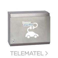 Caja recarga 2 schuko llaves/medición energía con referencia 0602112-039 de la marca SIMON.