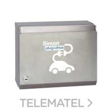 Caja recarga 2 Schuko medición/programador horario con referencia 0602132-039 de la marca SIMON.