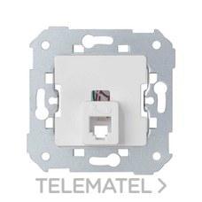 Mecanismo Simon 75 toma teléfono con 4 conexiones blanco nieve con referencia 75480-30 de la marca SIMON.