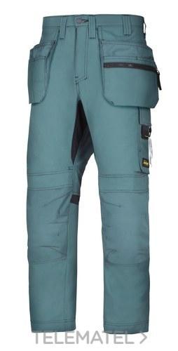 Pantalón 6200 AllroundWork+ petróleo talla 56 con bolsillos flotantes con referencia 62005151050 de la marca SNICKERS.