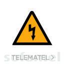 SEÑAL PLASTICO AE10ADH RIESGO ELECTRICO 105mm con referencia 725110 de la marca SOFAMEL.
