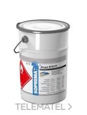 Capa de acabado PMM ALSAN® 970 FT + catalizador transparente 10Kg con referencia 00099189 de la marca SOPREMA.