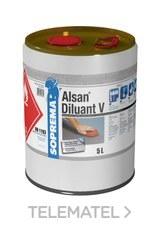 Disolvente ALSAN DISOLVENTE V para productos base poliuretano 1l con referencia 00011561 de la marca SOPREMA.