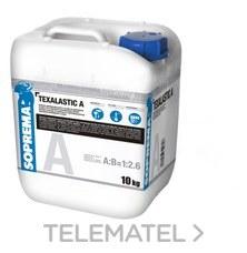 Mortero impermeable TEXALASTIC A blanco 10Kg con referencia 00071448 de la marca SOPREMA.