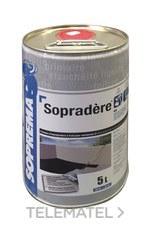 Pintura de imprimación asfáltica SOPRADÉRE 5l con referencia 00030966 de la marca SOPREMA.