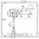 Armario A-6 MPB PE20 6m3/h PS100mbar 1 contador G-4 AENOR UNE 60404 con referencia 110003 de la marca STANDARD HIDRAULICA.