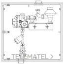Armario A-6 MPB PE20 6m3/h PS150mbar 1 contador G-4 con referencia 110009 de la marca STANDARD HIDRAULICA.