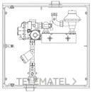 Armario A-6 MPB PE32 6m3/h PS21mbar 1 contador G-4 AENOR UNE 60404 con referencia 110002 de la marca STANDARD HIDRAULICA.