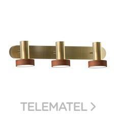 Luminaria 3 focos NATURE led 3x5W IP23 bronce madera con referencia 189050 de la marca SULION.