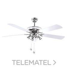 LUMINARIA VENTILADOR SPIKE LED 132cm 4xGU10 CROMO BLANCO con referencia 75128 de la marca SULION.