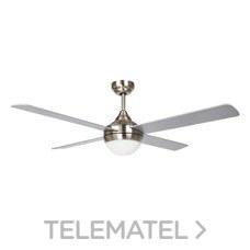 Ventilador de techo 2xE27 40W máximo acabado níquel+gris /pino con referencia 75266 de la marca SULION.