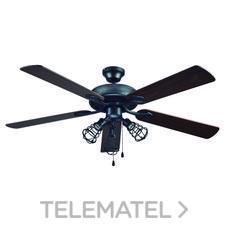 Ventilador de techo 3xE27 60W máximo acabado en gris antracita+wengue/haya con referencia 72240 de la marca SULION.