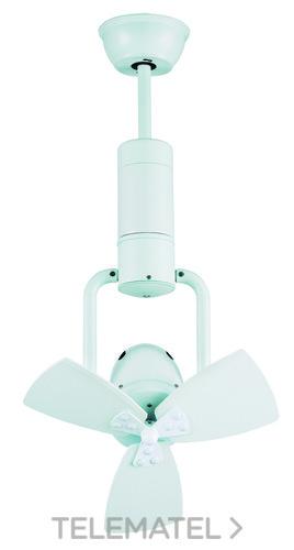 Ventilador de techo metal blanco con referencia 72643 de la marca SULION.