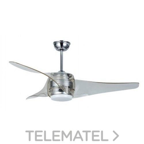 Ventilador de techo SMD 18W 3000K 1600-1900lm acabado cromo+transparente con referencia 72208 de la marca SULION.