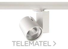Proyector LED START TRACK SPOT 35W 3K RA90 WB grande blanco con referencia 0004867 de la marca SYLVANIA.