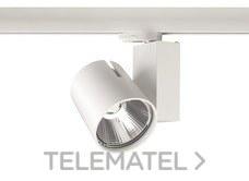 Proyector LED START TRACK SPOT 55W 3K RA90 MB grande blanco con referencia 0004869 de la marca SYLVANIA.