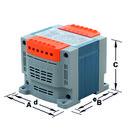 TRANSFORMADOR MONOFASICO SPK PISCINA 230V 350VA CON FUSIBLE con referencia 235B50SKF de la marca TECNOTRAFO.