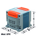 TRANSFORMADOR MONOFASICO SPK PISCINA 230V 60VA CON SOPORTE con referencia 160B50SPK de la marca TECNOTRAFO.