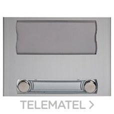 TEGUI 375450 Módulo señalización 1 ventana +2 pulsadores +2 columnas anodizado