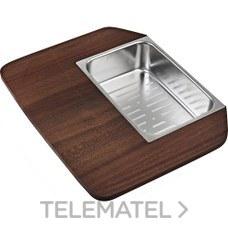 KIT TABLA MADERA+COLADOR+CUBETA 34.40 R25 con referencia 40199230 de la marca TEKA.