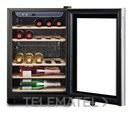 Vinoteca RV 250 B _MAESTRO con control electrónico, 5 estantes de madera regulables y capacidad: 25 botellas, temperatura ajustable, cristal anti-UV con referencia 40682004 de la marca TEKA.