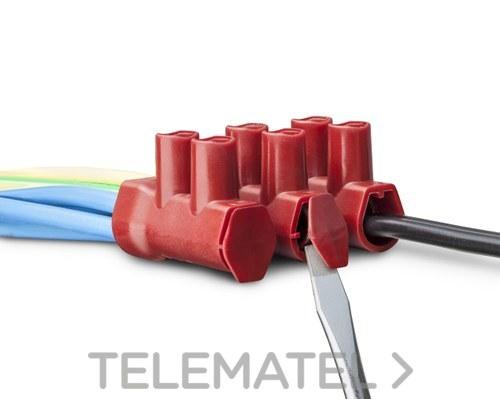 REGLETA CONEXION SERIE PRO 10P 10mm2 CON CUBIERTA PROTECTORA con referencia PRO10 de la marca TEKOX.