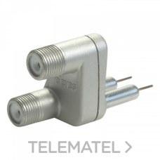 Adaptador doble EASY F M-H con referencia 405701 de la marca TELEVES.