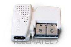 Amplificador vivienda 2S 47-790MHz G10/20dB ajustable con referencia 560542 de la marca TELEVES.