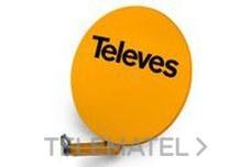 Antena parabólica OFF-SET aluminio disco 950 blanco con referencia 790304 de la marca TELEVES.