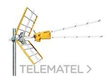 Antena V Zenit UHF C21-58/59/60 configuración con referencia 149202 de la marca TELEVES.